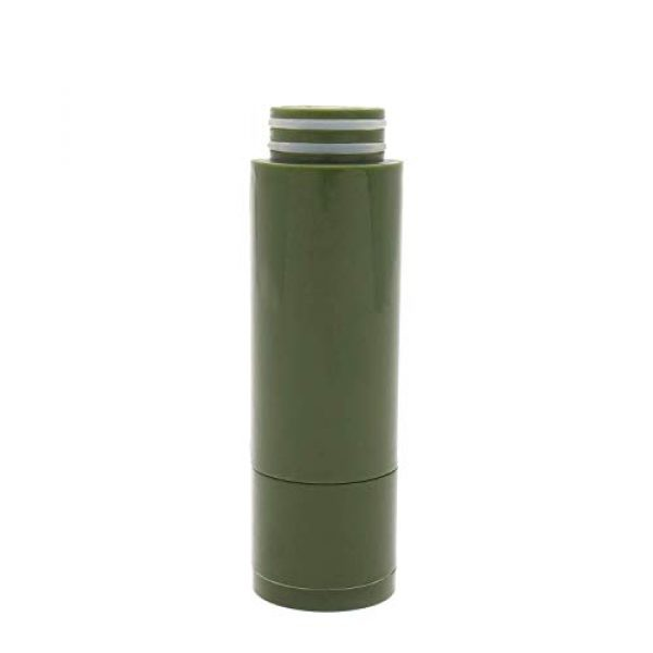 SurviMate Survival Water Filter 1 SurviMate Portable Water Filter Pump for Hiking Camping Travel Emergency use with Activated Carbon & 3 Filter Stages,2 Replaceable Pre-Filter (Green) (Replacement)