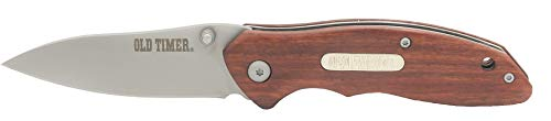 Old Timer  1 Old Timer OT Rosewood 7in High Carbon S.S. Spring Assisted Folding Knife with a 3in Drop Point Blade and Ironwood Handle for Outdoor