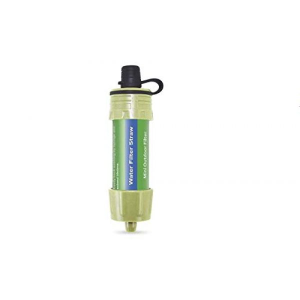 TYLZA Survival Water Filter 2 Personal Water Filter Straw Mini Water Purifier Survival Gear with 5000L Filtration 0.1 Micron Purifier Survival Gear for for Hiking, Camping, Travel and Emergency Preparedness