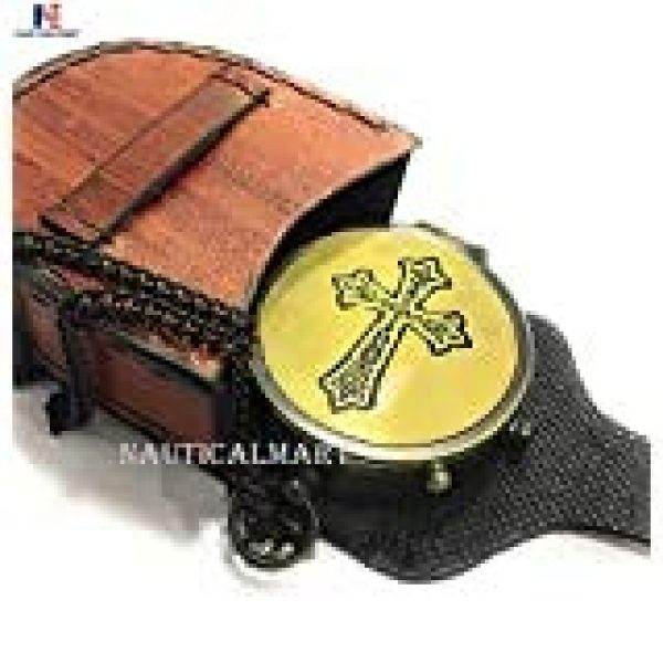 NauticalMart Survival Compass 1 May Your Faith Always Guide You and Cross Engraved On Working Compass, Confirmation Gift Ideas, Baptism Gifts, Birthday, get well soon, Graduation gifts