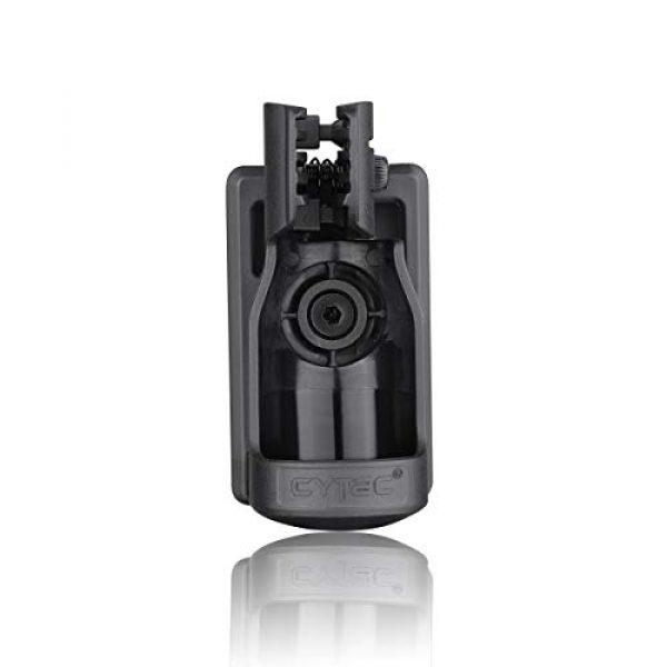 CYTAC Survival Flashlight 1 CYTAC Tactical Flashlight Holder, 360° Adjustable Flashlight Carrier for 1.14in Flashlight Head, Duty Belt Torch Pouch Flash Light Carrier -Black