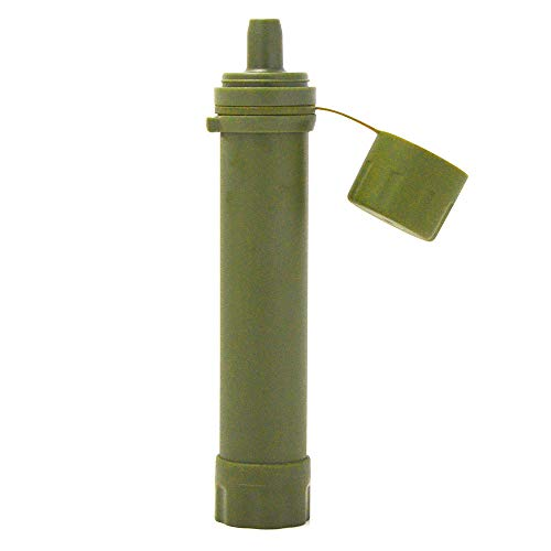 Lixada  1 Lixada Straw Water Filter Survival Filtration Portable Emergency Water Purifier for Hiking Camping Travel Outing Water Supply Preparedness