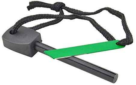 uniqwardrobe  1 uniqwardrobe Survival Magnesium Flint Stone Fire Starter Lighter Kit