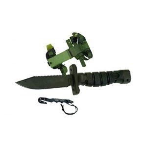 Ontario Knife Company Fixed Blade Survival Knife 1 Ontario 1400 ASEK Survival Knife System (Black)