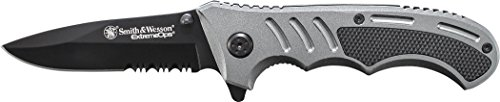 Smith & Wesson  1 Smith & Wesson ExtremeOps CK204CP 7.7in High Carbon S.S. Folding Knife with a 3.1in Tanto Blade and Aluminum Handle for Outdoor