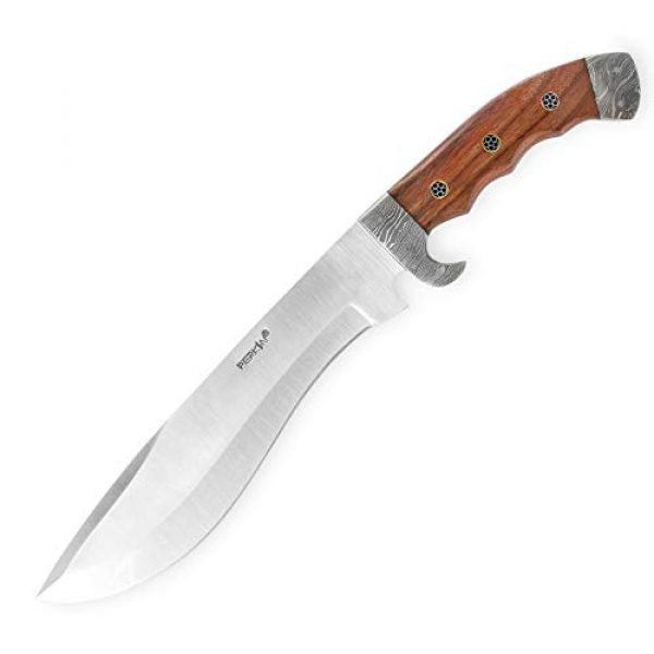Perkin Fixed Blade Survival Knife 1 Perkin - Hunting Knife with Leather Sheath - D2 Steel Blade