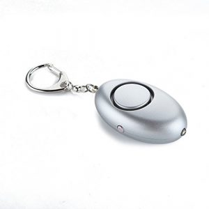 Guard Survival Alarm 1 Guard 120dB Personal Alarm with LED flashlight, Self Defense Keychain, survival whistle for Rape/Jogger/Women/Kids/Ederly Emergency ,Gray