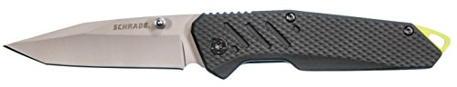Schrade  1 Schrade SCH707 7.28in High Carbon Stainless Steel Folding Knife with 3.15in Tanto Point Blade and Aluminum Handle for Outdoor Survival