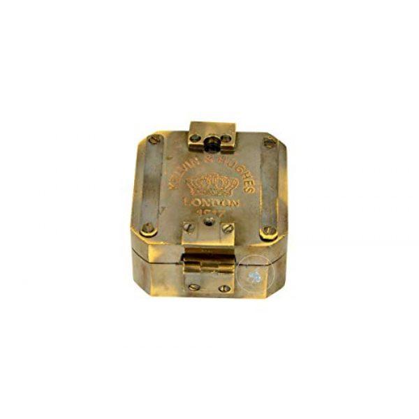 aasiya nautical Survival Compass 1 aasiya nautical Kelvin & Hughes Natural Sine Brunton 1917 Compass Brass Mining Compasses, Brass Pocket Compass Outdoor Navigation Tools an
