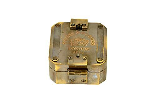 aasiya nautical  1 aasiya nautical Kelvin & Hughes Natural Sine Brunton 1917 Compass Brass Mining Compasses