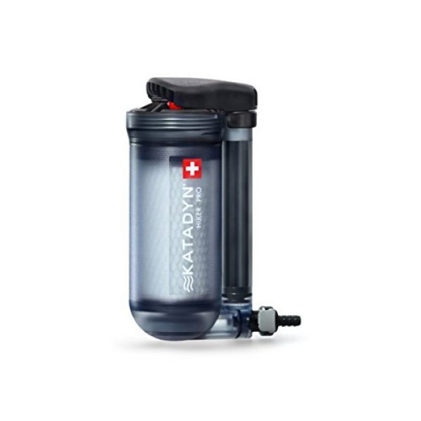 Katadyn Survival Water Filter 1 Katadyn Water Filter, Long Lasting for Personal or Small Group Camping, Backpacking or Emergency Preparedness Portable Micro Filter