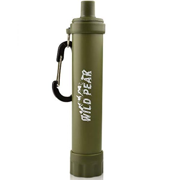Wild Peak Survival Water Filter 1 Wild Peak Stay Alive-2 Outdoor Activated Carbon Water Filter Emergency Straw with Compass, Whistle, Signalling Mirror and Carabiner for Survival, Camping, Hiking, Climbing, Backpacking (4000 Liters)