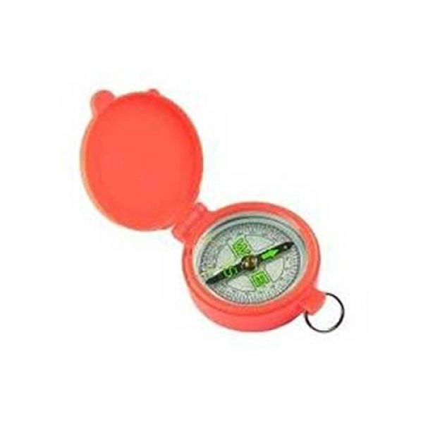 Allen Company Survival Compass 1 Allen Pocket Compass with Lid, Blaze Orange