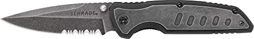 Schrade  1 Schrade SCH505S Liner Lock Folding Knife with Partially Serrated Drop Point Blade