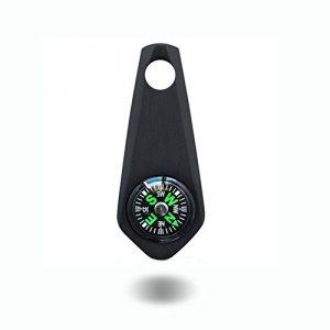 TI-EDC  1 TI-EDC Titanium Survival Keychain Compass