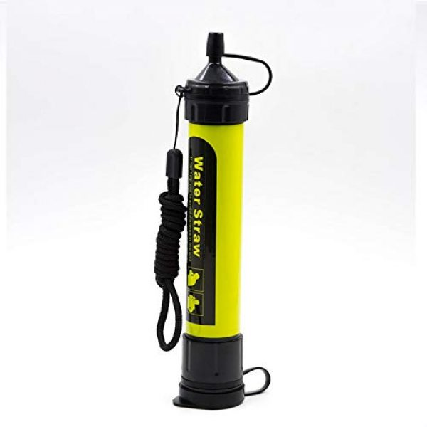 JJ Survival Survival Water Filter 1 Water Filter Straw, Yellow, Hiking, Survival (Yellow)