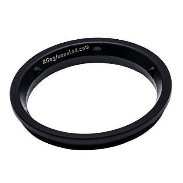 Xeno Survival Flashlight 1 Xeno RG03 Handheld Tactical Led Flashlight Lens Grip Ring - Ti-Electroplating Black Version