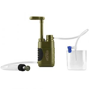 Wild Peak  1 Wild Peak Stay Alive-3 Outdoor Tactical 4-Stage Water Filter Emergency Pump with Activated Carbon for Survival
