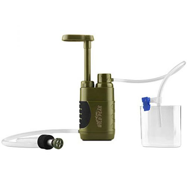 Wild Peak Survival Water Filter 1 Wild Peak Stay Alive-3 Outdoor Tactical 4-Stage Water Filter Emergency Pump with Activated Carbon for Survival, Camping, Hiking, Climbing, Backpacking (5000 Liters)