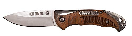 Old Timer  1 Old Timer 900OT 6.85in High Carbon S.S. Assisted Opening Knife with 2.9in Drop Point Blade and Ironwood Handle for Outdoor