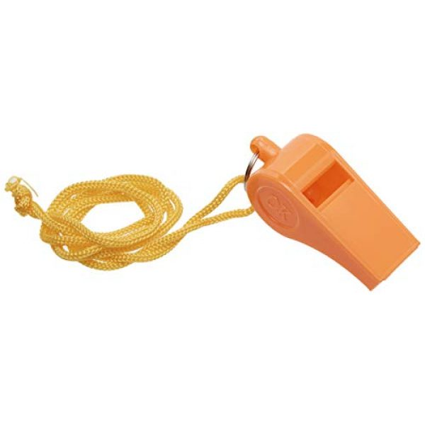 SE Survival Whistle 1 Bulk Lot of 100 NEW Safety Plastic Whistle with Lanyard Orange/Yellow