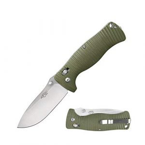 Firebird Knife  1 Folding Knife F720 Classic Small Stainless Steel 440C Blade 3.4in Pocket Knife with G10 Handle Axis Lock Clip Point & Straight Edge Lockback Knife for Hunting Camping Outdoor Survival