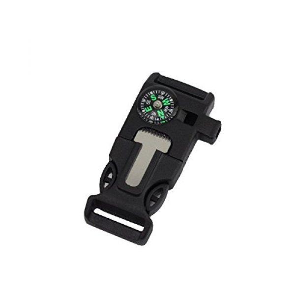 eoocvt Survival Buckle 1 eoocvt 10pcs Side Buckle with Whistle Compass Flint Fire Starter Scaper for Paracord Bracelet