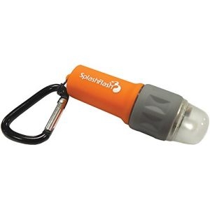 UST Survival Flashlight 1 UST SplashFlash 25 Lumen Waterproof, Mini-Lantern, Safety and Personal Locator Light with Lifetime LED Bulb for Hiking, Emergency and Outdoor Survival