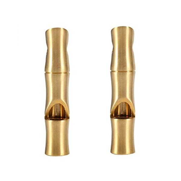 VGEBY Survival Whistle 1 VGEBY 2Pcs Mini Survival Brass Whistles Loud Signal Whistles Bamboo Joint Whistles for Camping Hiking