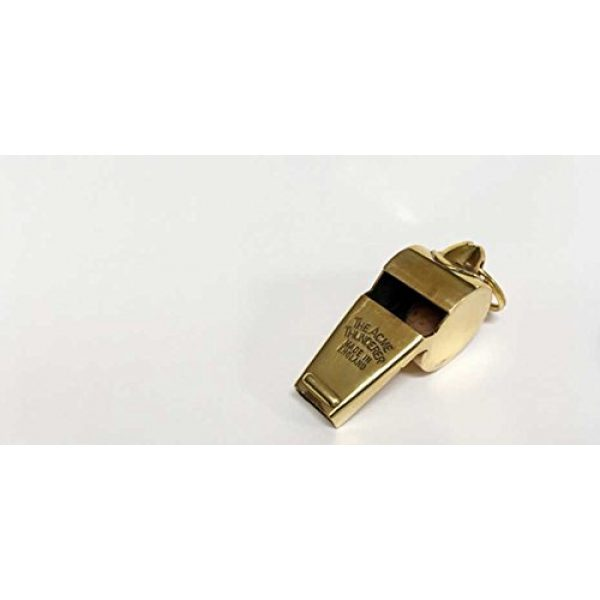 The Acme Survival Whistle 1 Acme Thunderer 60.5 Polished Brass Small (Gold) Small