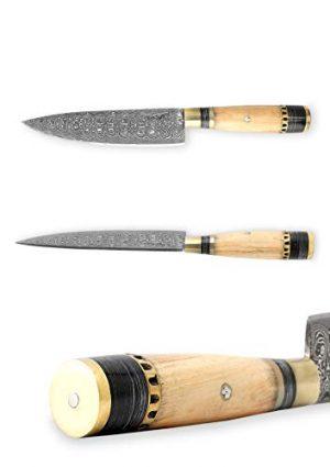 Perkin Knives  1 Perkin Knives - Custom Handmade Damascus Hunting Knife - Beautiful Kitchen & Camping Knife