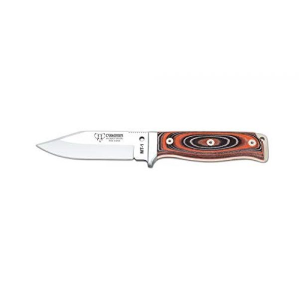 Cudeman Fixed Blade Survival Knife 1 Cudeman Survival Knife MT-1 295-W-K, Orange and Black micarta Handle with 4.3 inches Blade, Kydex Sheath, Fishing and Hunting Tool, Sports Activity, Camping + Multifunction Gift Card