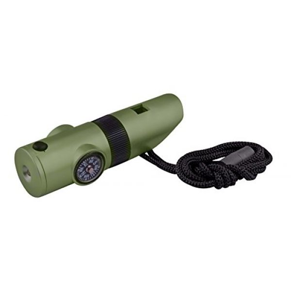 SE Survival Whistle 1 SE 7-IN-1 Green Survival Whistle - CCH7-1G