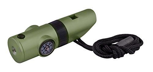 SE  1 SE 7-IN-1 Green Survival Whistle - CCH7-1G