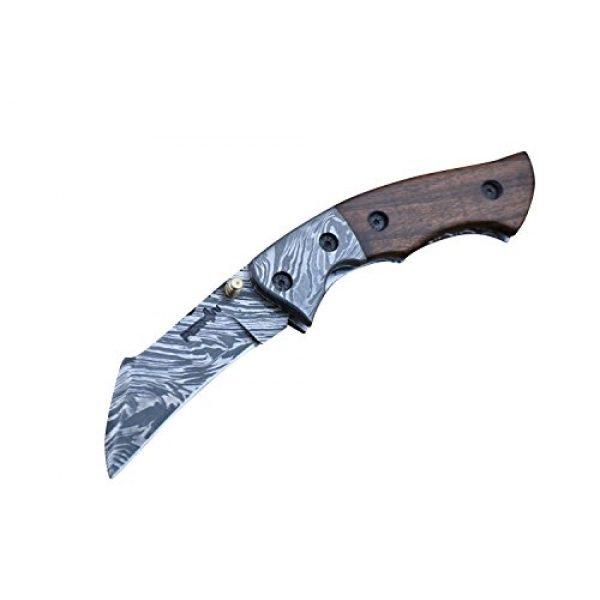 Perkin Folding Survival Knife 1 Perkin - Handmade Damascus Pocket Knife - Beautiful Folding Knife