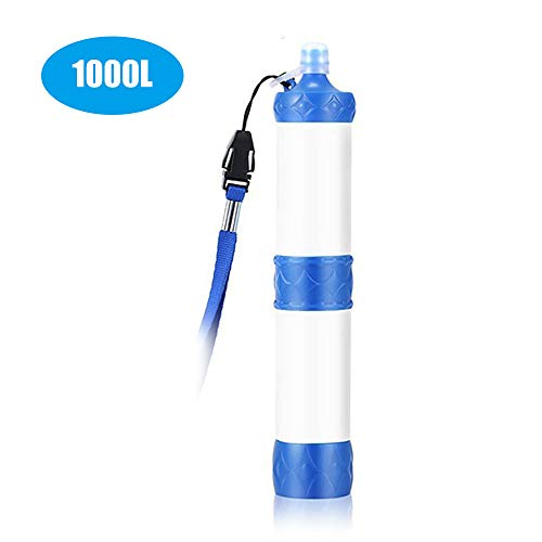 Lixada  1 Lixada Straw Water Filter Portable Emergency Survival Water Purifier Filtration System Bottom Thread Design for Hiking Camping Travel Backpacking Outing Water Supply Preparedness