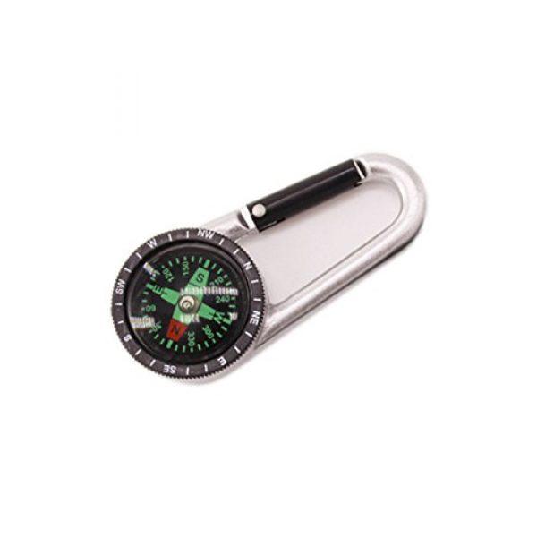Snowmanna Survival Compass 1 Snowmanna-1Pc Mini Aluminum Compass Carabiner Key Chain Hook Outdoor Hiking Camping Survival Tool