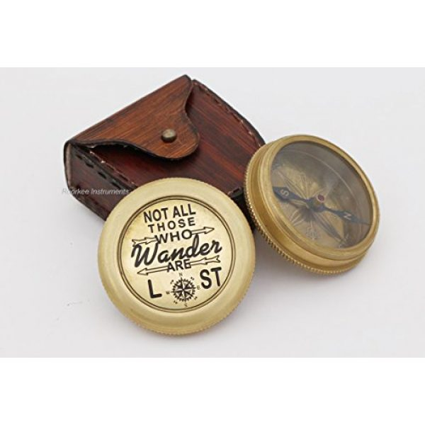 Roorkee Instruments India Survival Compass 1 Complete Quote of J.R.R Tolkien Not All Those. Compass with Case