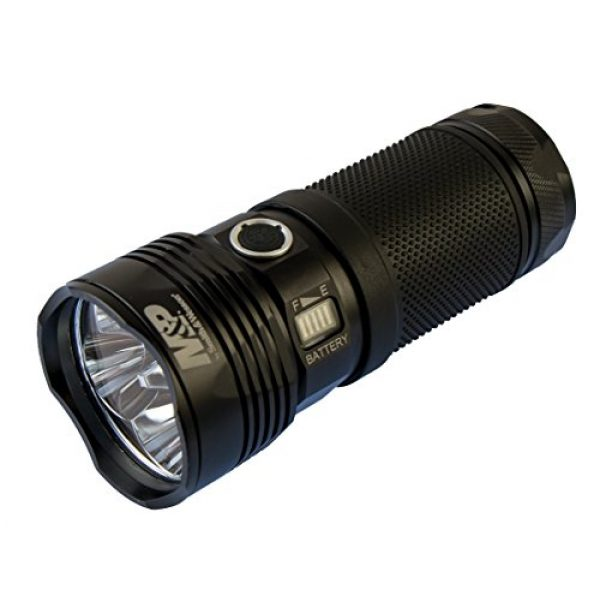 Smith & Wesson Survival Flashlight 1 Smith & Wesson M&P Night Terror Flashlights with Various Modes, Heavy Duty, Waterproof Construction and Memory Retention for Survival, Outdoor and Hunting