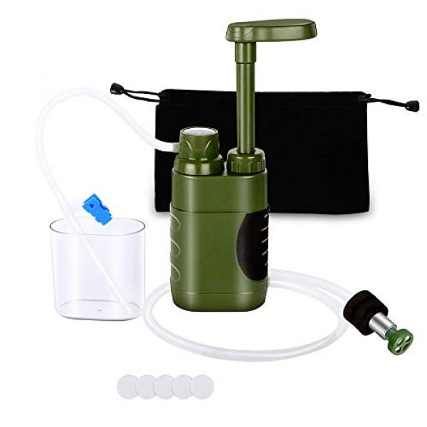 Lixada Survival Water Filter 1 Lixada Straw Water Filter Survival Filtration Portable Emergency Water Purifier for Family Hiking Camping Travel Outing Water Supply Preparedness