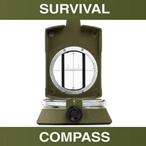 Swiss Safe  1 Swiss Safe Multifunction Military Survival Compass - Premium Navigational Compass for Camping