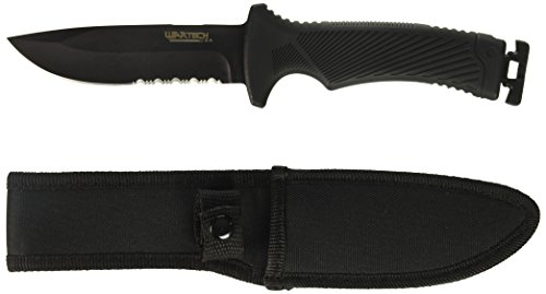 "Wartech  1 10"" Hunting Knife with Sheath and Hidden Fire Starter"