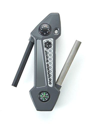 Off Grid Tools  1 Off Grid Tools Survival Companion Pro Aluminum Fire Starter & Camping Multi Tool