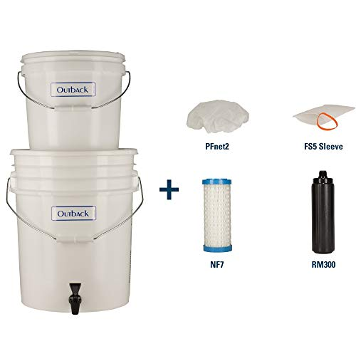 Outback  1 Outback Emergency Water Filtration Bundle: Portable Gravity Filter Plus + Extra Filter Replacement Kit - Removes Viruses & Bacteria 99.99%