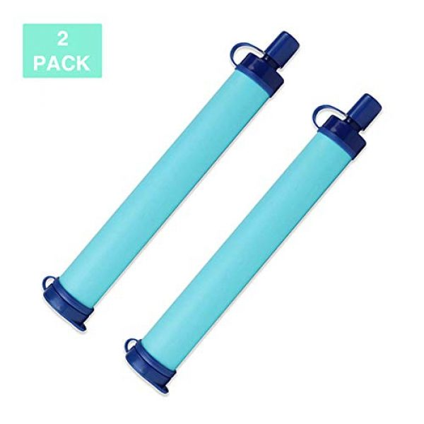 H&H Survival Water Filter 1 H&H Water Filter Straw, 396 Gallon Filtration Capacity, 0.01 Micron Filtration Accuracy Survival Water Filter, Easy Carry for Outdoor Adventure, Camping, Hiking, Backpacking, Travel