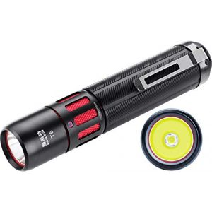 CIVICTOR Survival Flashlight 1 Small Tactical Flashlight 1000 lumens High Power Super Bright Cree Led Flash light 18650 Rechargeable Battery Mini Police Pocket Flashlight Waterproof EDC Gear Camping Military Army Tac Torch Lantern