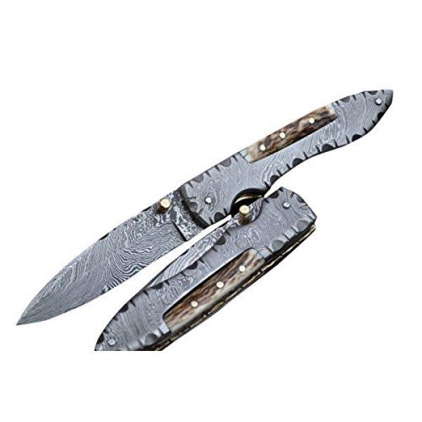 Perkin Folding Survival Knife 1 Perkin MM2002L Damascus Steel Knife, Pocket Knife, Folding knife