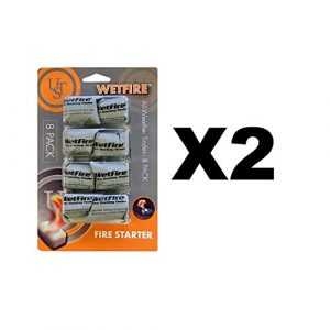 Ultimate Survival Technologies Survival Fire Starter 1 Ultimate Survival Technologies WetFire All-Weather Fire Starter 2-Pack of 8