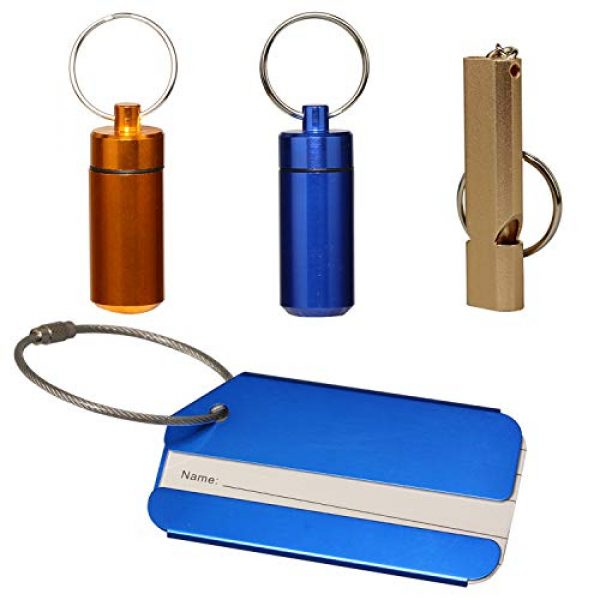 Timorn Survival Whistle 1 Cute Pill Organizer Emergency Whistle Luggage Tag Keychain, Timorn Waterproof Small Pill Box Dog tag Lifeguard Whistle Aluminum for Outdoor Travel Camping Hiking Boating Hunting Fishing