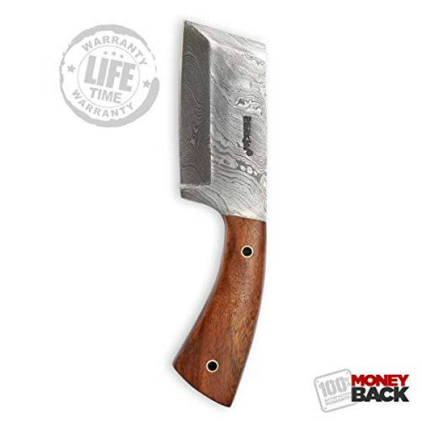 Perkin Fixed Blade Survival Knife 1 Damascus Steel Hunting Knife Damascus Chef Knife with Sheath